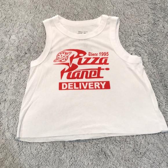 7f39d7586b3a34 Disney Tops - Pizza Planet Delivery Crop 🍕